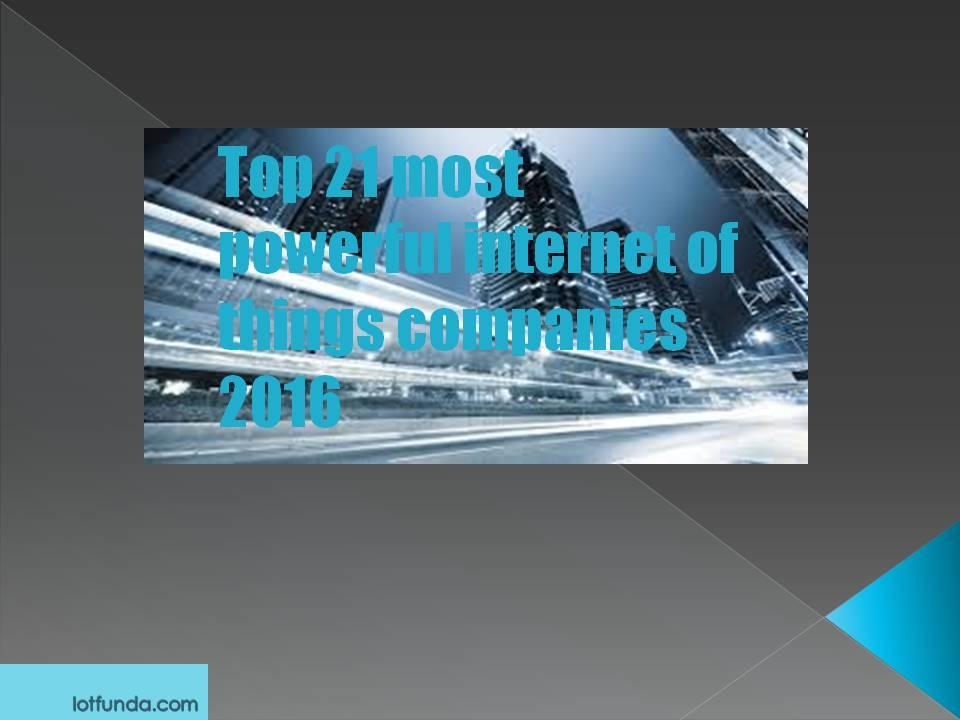 internet of things companies