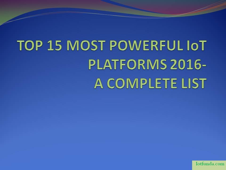 popular iot platforms