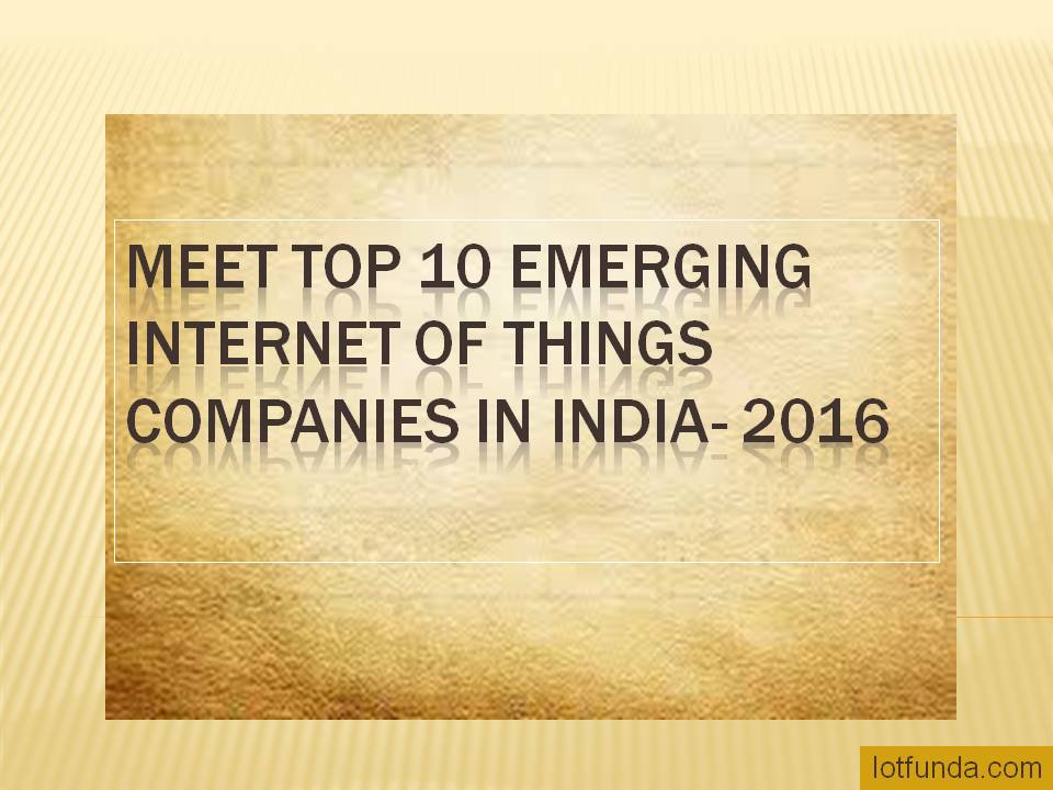 list of iot companies in india